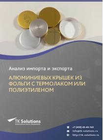 Анализ импорта и экспорта алюминиевых крышек из фольги с термолаком или полиэтиленом в России за 2016-2020  гг.