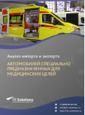 Анализ импорта и экспорта автомобилей специально предназначенных для медицинских целей в России в России 2021, 2020 2016-2020  гг.