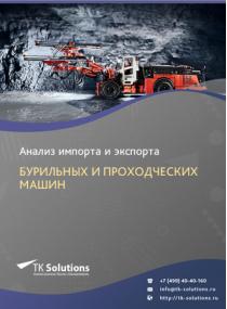 Анализ импорта и экспорта бурильных и проходческих машин в России за 2016-2020  гг.