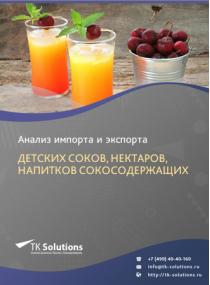 Анализ импорта и экспорта детских соков, нектаров, напитков сокосодержащих в России за 2016-2020  гг.