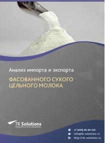 Анализ импорта и экспорта фасованного сухого цельного молока в России за 2016-2020  гг.