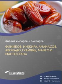 Анализ импорта и экспорта фиников, инжира, ананасов, авокадо, гуайявы, манго и мангостана (гарцинии) в России за 2016-2020  гг.