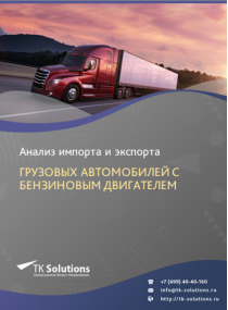 Анализ импорта и экспорта грузовых автомобилей с бензиновым двигателем в России за 2016-2020  гг.