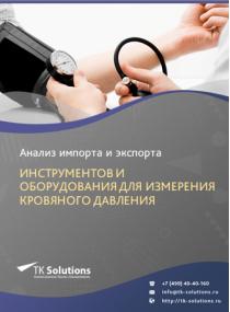 Анализ импорта и экспорта инструментов и оборудования для измерения кровяного давления в России за 2016-2020  гг.