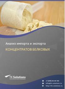 Анализ импорта и экспорта концентратов белковых (протеиновых) в России в России 2021, 2020 2016-2020  гг.