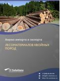 Анализ импорта и экспорта лесоматериалов хвойных пород в России за 2016-2020  гг.