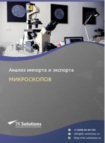 Анализ импорта и экспорта микроскопов в России в России 2021, 2020 2016-2020  гг.
