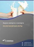 Анализ импорта и экспорта молочной кислоты в России в России 2021, 2020 2016-2020  гг.
