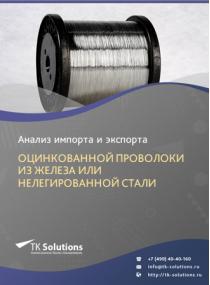 Анализ импорта и экспорта оцинкованной проволоки из железа или нелегированной стали в России в России 2021, 2020 2016-2020  гг.