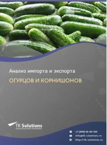 Анализ импорта и экспорта огурцов и корнишонов в России в России 2021, 2020 2016-2020  гг.