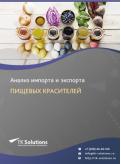 Анализ импорта и экспорта пищевых красителей в России в России 2021, 2020 2016-2020  гг.