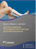Анализ импорта и экспорта приспособлений ортопедических или для лечения переломов в России в России 2021, 2020 2016-2020  гг.