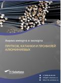 Анализ импорта и экспорта прутков, катанки и профилей алюминиевых в России в России 2021, 2020 2016-2020  гг.