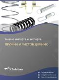 Анализ импорта и экспорта пружин и листов для них в России в России 2021, 2020 2016-2020  гг.