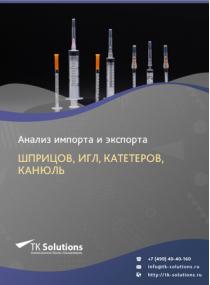Анализ импорта и экспорта шприцов, игл, катетеров, канюль в России в России 2021, 2020 2016-2020  гг.