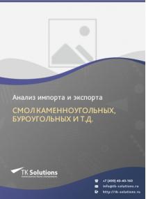 Анализ импорта и экспорта смол каменноугольных, буроугольных и т.д. в России за 2016-2020  гг.