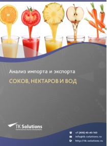 Анализ импорта и экспорта соков, нектаров и вод в России в России 2021, 2020 2016-2020  гг.