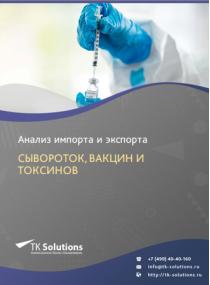 Анализ импорта и экспорта сывороток, вакцин и токсинов в России в России 2021, 2020 2016-2020  гг.