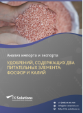 Анализ импорта и экспорта удобрений, содержащих два питательных элемента: фосфор и калий (удобрений сложных РК) в России за 2016-2020  гг.