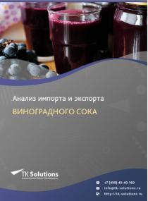 Анализ импорта и экспорта виноградного сока в России за 2016-2020  гг.