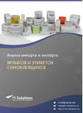 Анализ импорта и экспорта ярлыков и этикеток самоклеящихся в России в России 2021, 2020 2016-2020  гг.